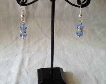 Light Blue Swarovski Earrings