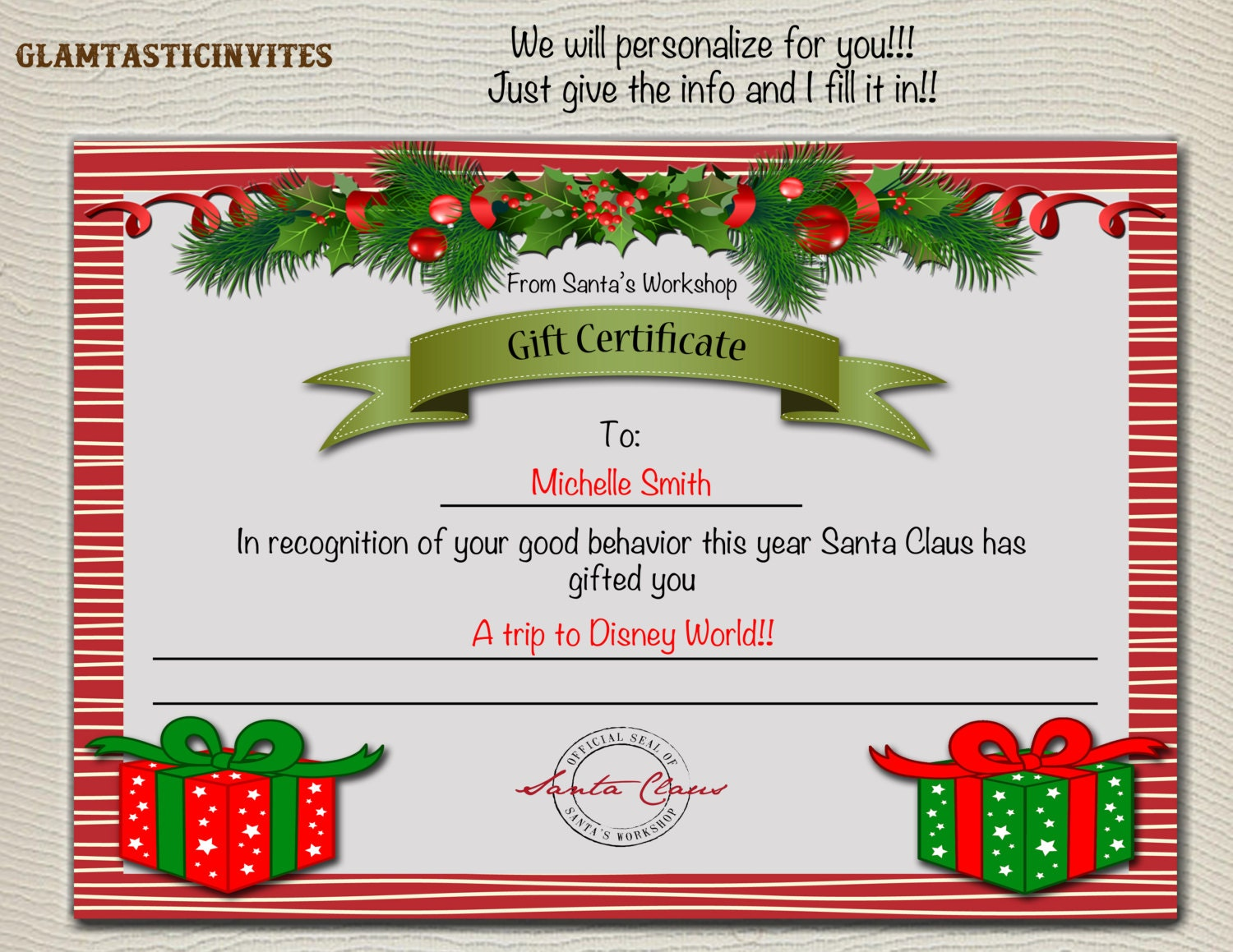 Editable ticket template free pasoevolist christmas gift certificate christmas trip gift certificate editable ticket template free yadclub Image collections