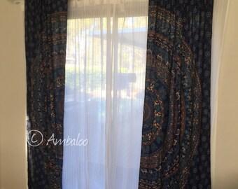 Mandala Curtains, window treatment, curtains, draps