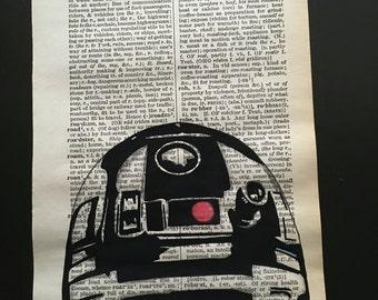 R2D2, dictionay page art. 15cm x 23cm