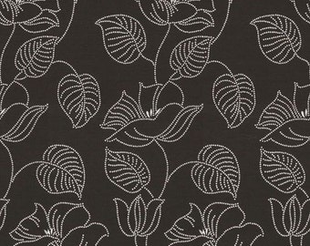"""Lotus Acorn Embroidered Floral Reversible Italian upholstery Fabric 57"""" By the yard"""
