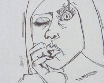 Insomnia Original Drawing