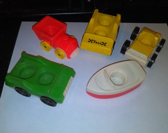 Vintage Fisher Price Little People Vehicles lot