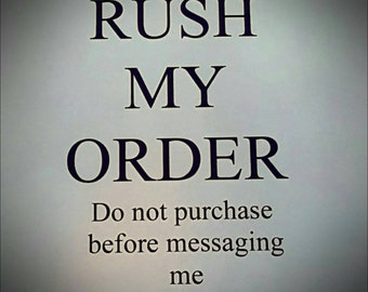 Rush Fee