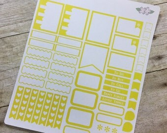 Yellow Vertical Life Planner No Shading Theme - Full Page ~ 3253F ~