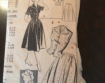 Vintage Mail Order Dress Pattern 2946-Size 16 (34-28-37)