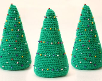 Christmas Trees Pattern Holiday Decoration Crochet Pattern Christmas Decor Crochet Amigurumi Xmas Tree Crochet Handmade Christmas Trees P019