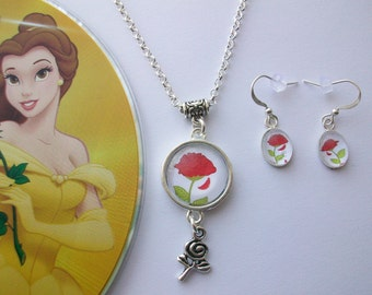 beauty and the beast jewelry etsy uk