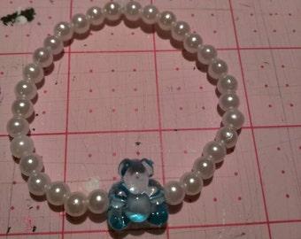 Blue Teddy Bear Bracelet