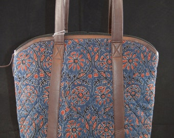 Rekha Block-Printed Bag