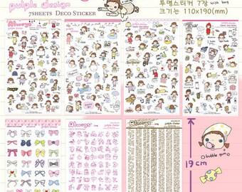 Cute Girl Sticker Set