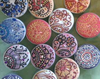 Henna design tealights,  henna Verona candles