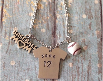 Baseball Mom Necklace - Baseball Jewelry - Baseball Necklace - Baseball Mom - Personalized - Gift for Mom - Sports Mom - Baseball