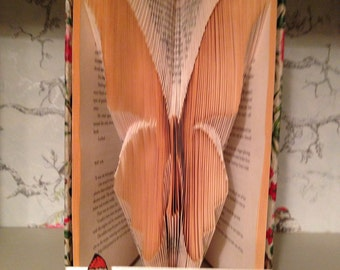 Folded Book Art butterfly design