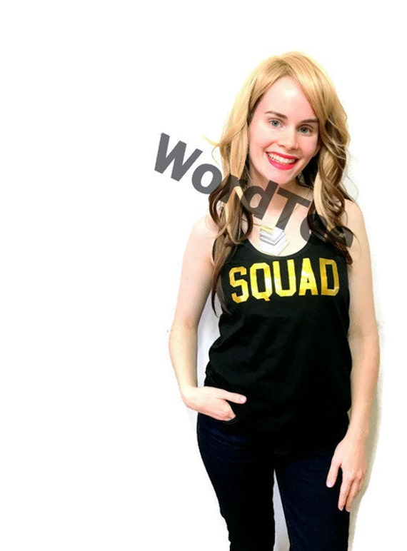 Squad bridal bachelorette party shirt gold by wordtee on etsy for Bucket squad gold shirt