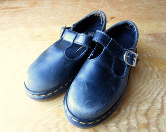 Vintage Dr. Martens Mary Jane Made in England Child's Size 12 - Grunge - Hipster