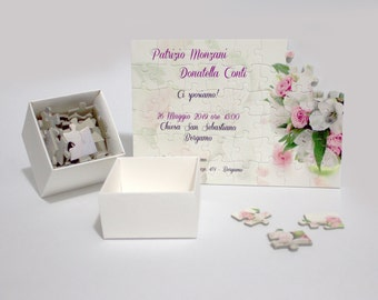 Invitation puzzles with box