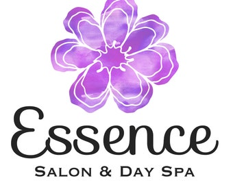 Premade Customizable Watercolor Logo - Flower - Business Cards - Blog - Marketing - Branding