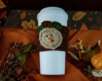 Turkey Thanksgiving Coffee Mug Cozy, crochet