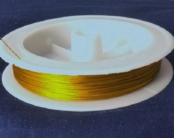 7 Strand Gold .3mm Steel Beading Wire (20 meters)