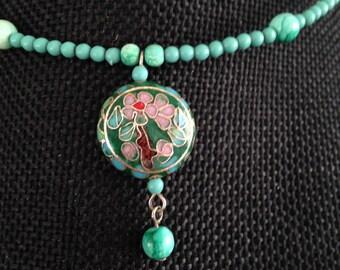Cloisonne pendant, cloisonne pendants, cloisonne necklace, cloisonné pendant, cloisonné pendants, vintage cloisonné jewelry, cloisonne