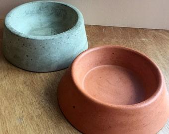 Concrete Pet Bowls