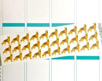 German Shepherd Dog Planner Stickers