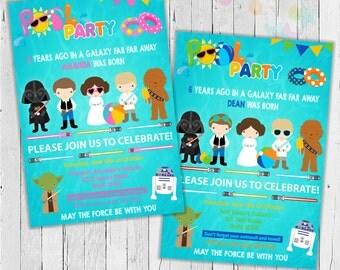 Star Wars Pool Party Invitation / Printable invitation  / Digital File