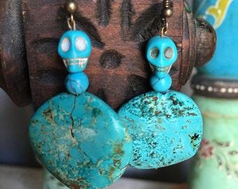 Turquoise Medallion Earrings