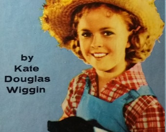 """Vintage The Shirley Temple edition of Rebecca of Sunnybrook Farm by Kate Douglas Wiggins """"with Illustrations from her Famous Movie"""""""