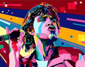 Mick Jagger, The Rolling Stones, print, poster