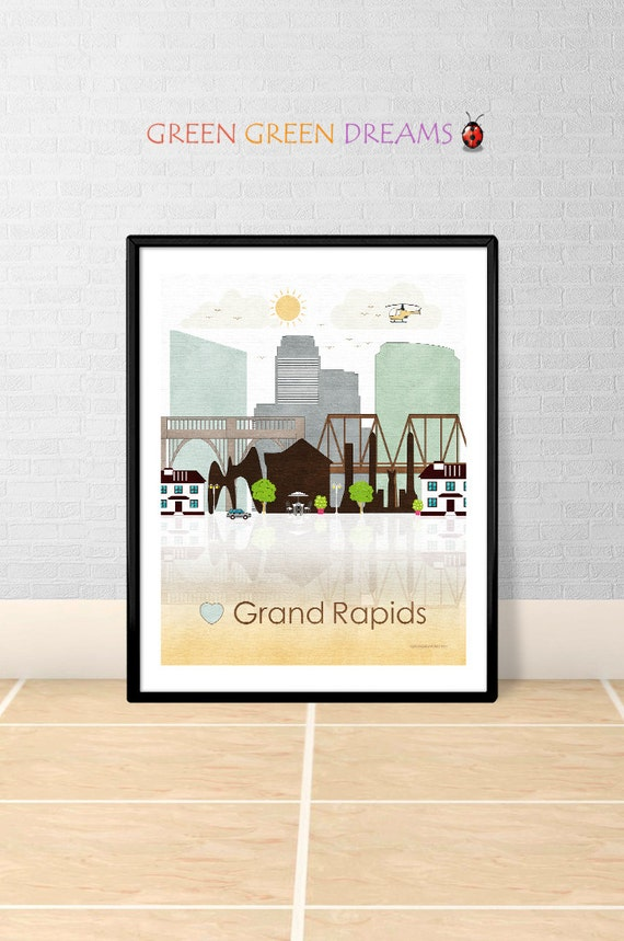 home decor stores grand rapids mi grand rapids print poster wall grand by greengreendreams 13299