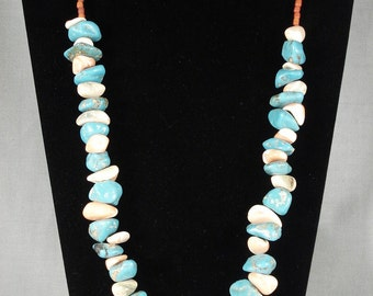 138 Grams Vintage Navajo Turquoise Spiny Oyster Necklace