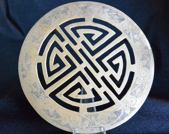 Chinese Brass  Footed Trivet