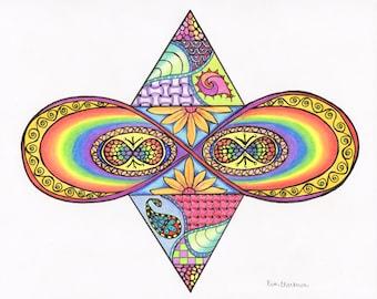 Infinity Rainbow print