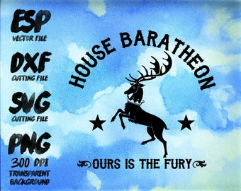 game of thrones House Baratheon Clipart , SVG Cutting , ESP Vectors files , T shirt , iron on , sticker ,Personal Use