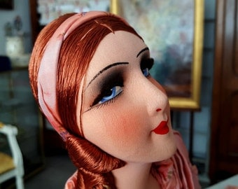 French Boudoir doll salon doll 1920 rousse - authentic and superb as new - 20605