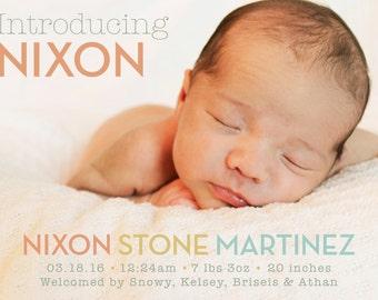 Simple Newborn Birth Announcment