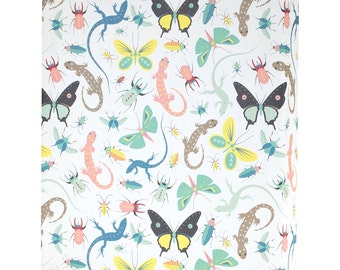 Creepy Crawlies Lizards and Bugs Wrapping Paper - 3 Flat Sheets by Revel & Co. WS1148