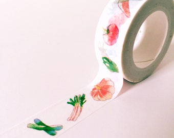 Vegetables washi tape