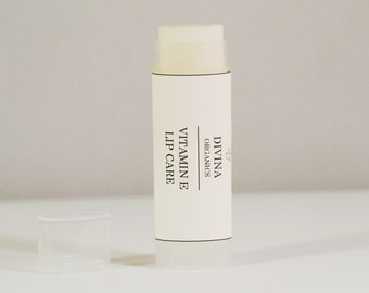 Organic Lip Balm, Vitamin E Lip Care