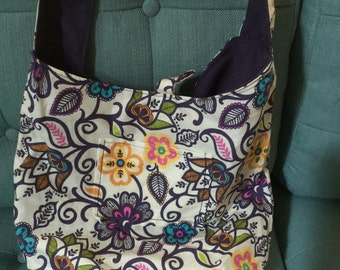 Reversible cross body casual purse