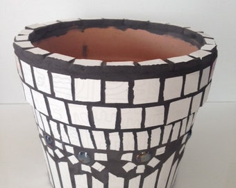 Handmade planter mosaic pot