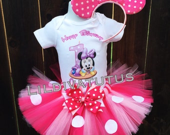 Hnadmade Baby Minnie Mouse Tutu Set