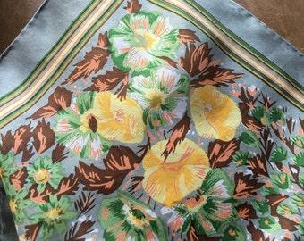 Vintage Retro Fashion 100% Silk Scarf 16x16 from China