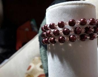 Beaded memory wire bracelets