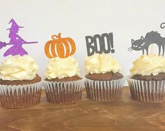 Halloween Cupcake Topper Set (Set of 12)