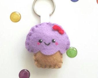 Kawaii Felt Cupcake Plush Keychain