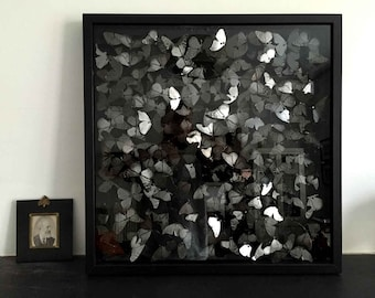 NIGHT FLIGHT -  Handcrafted 2D prints mounted inside picture frame