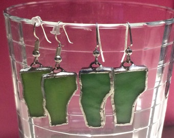 Custom Designed Vermont Stained Glass Earrings